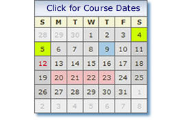 Click on the calendar Icon for course dates and availability